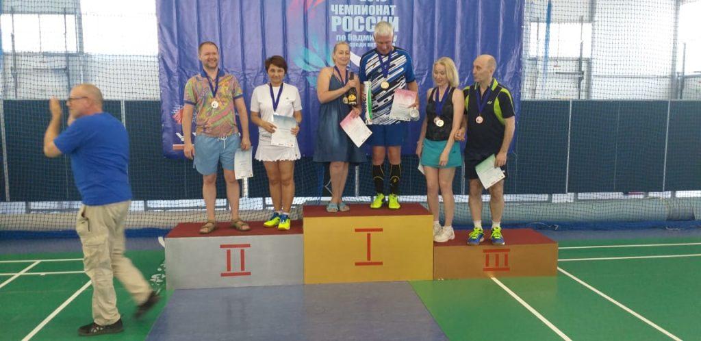 Поздравляем с победой на чемпионате России по бадминтону среди ветеранов